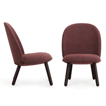 Normann Copenhagen - Ace Lounge Chair Nist, dark red