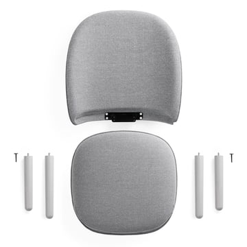 Normann Copenhagen - Ace Lounge Chair Nist, grey - individual pieces
