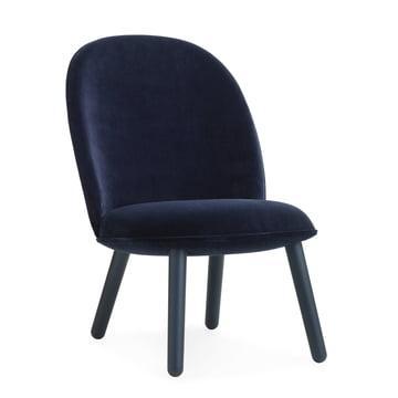 Normann Copenhagen - Ace Lounge Chair Velour, dark blue