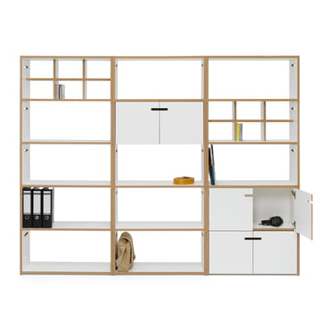 White Hochstapler Shelving System with and without Doors