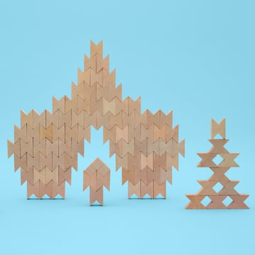 The Hay - Twins wooden blocks in beech