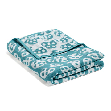 Hay - He She It, She Beach Towel, turquoise / beige