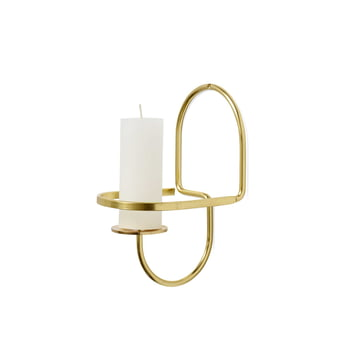 The Hay - Lup Wall Candleholder in brass, semicircle