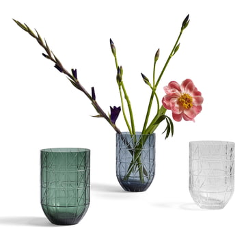 The Hay - Colour Vase glass vase in L, transparent, blue and green