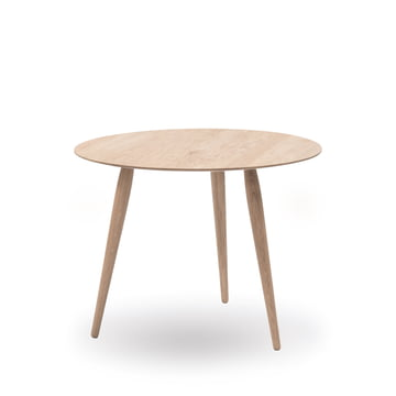 Play Round Wood Side Table Ø 60 cm by bruunmunch in oak soaped
