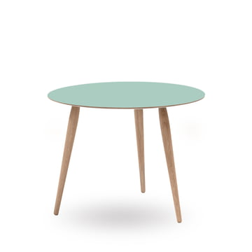 Play Round Laminate Side Table Ø 60 cm by bruunmunch in Dusty Jade / oak white oil