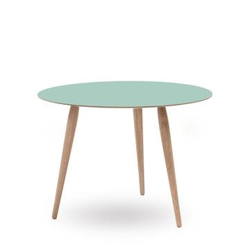Play Round Laminate Side Table Ø 90 cm by bruunmunch in Dusty Jade / oak white oil