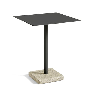 Hay - Terrazzo Table square 60 x 60cm, black / yellow