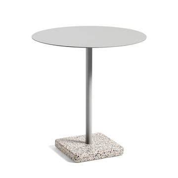 Hay - Terrazzo Table round Ø 70cm, grey / light grey