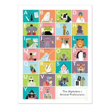The Alphabet of Animal Professions by Pop Chart Lab