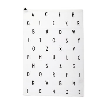 The tea towel vintage ABC by Design Letters.