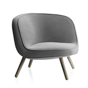 Fritz Hansen - Lounge Chair VIA57, Steelcut Trio 124 black / white