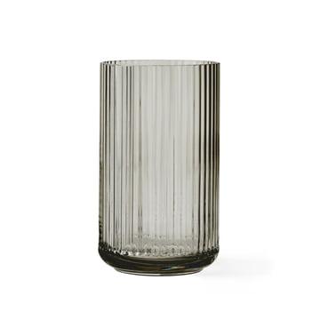 Lyngby Porcelæn - Glass Vase, smoke, H 20 cm