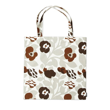 Marimekko - Pieni Green Green Tote Bag, grey white / brown