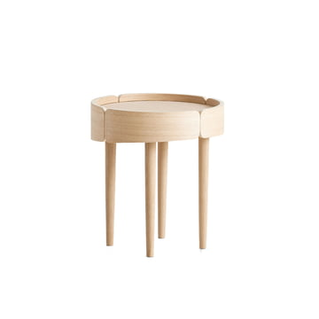 Skirt Side Table Ø 40 cm by Woud in oak