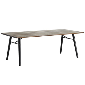 Split Dining Table by Woud in smoked oak and black