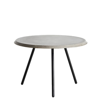 Soround Side Table High Concrete by Woud