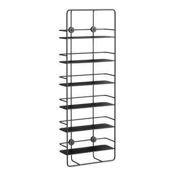Coupé Vertical Shelf by Woud in black