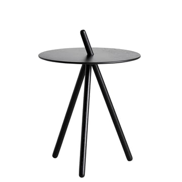 Come Here side table by Woud in black