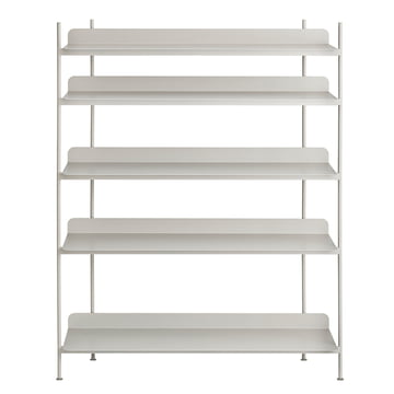 Compile Shelving System (Config. 3) by Muuto in grey