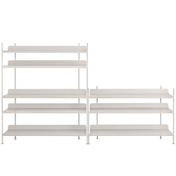 Compile Shelving System (Config. 7) by Muuto in grey