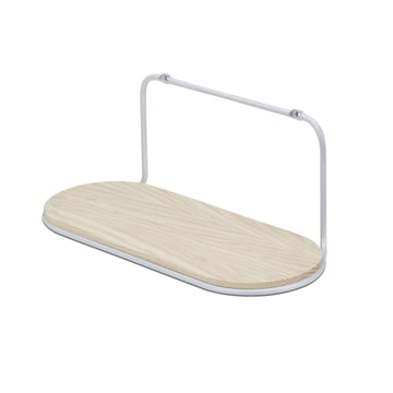 Wire Shelf Oval by Skagerak in Silver White