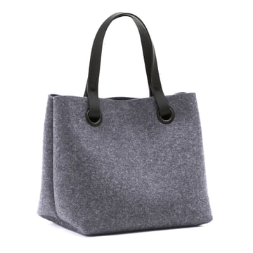 The Hey Sign - Mia Felt Bag in Anthracite