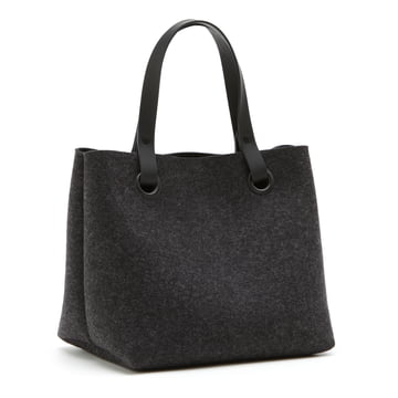 The Hey Sign - Mia Felt Bag in Graphite