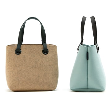 The Hey Sign - Mia Felt Bag in terra / aqua