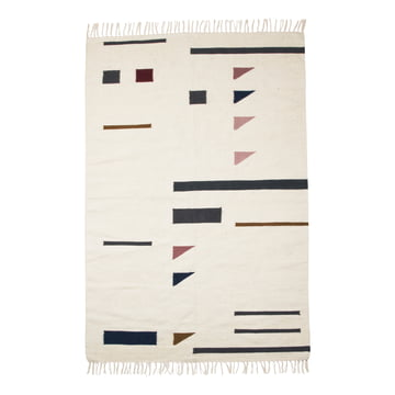 Kelim Rug Colour Triangles Large by ferm Living