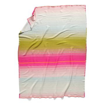 Colour Plaid Woolen Blanket colour: No. 3 by Hay