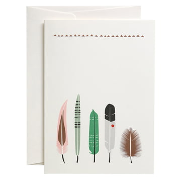 The pleased to meet - Five Feathers Greeting Card