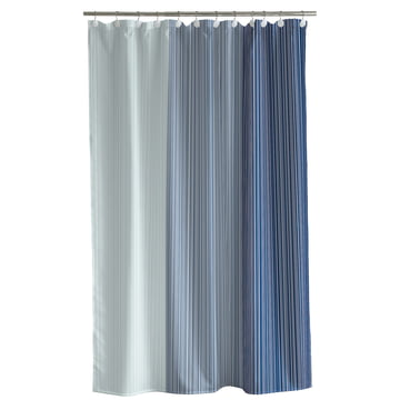 Gradient Shower Curtain by Södahl in China Blue