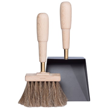 Shovel and Brush Emma classique by Eldvarm in beech wood