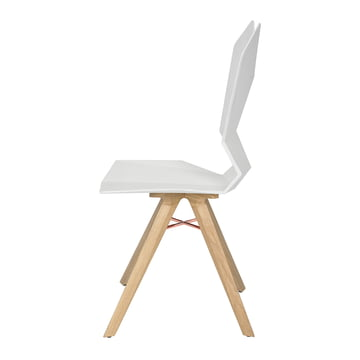 The Tom Dixon - Y Chair in white / natural oak