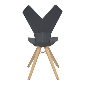 The Tom Dixon - Y Chair in black / natural oak