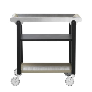 Anoon serving trolley, black / mud grey / chrome