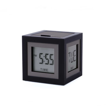 Cubissimo LCD Alarm Clock by Lexon in Gun