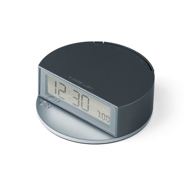 Fine Clock by Lexon in Blue / Grey