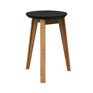 Button Stool by We Do Wood in Black