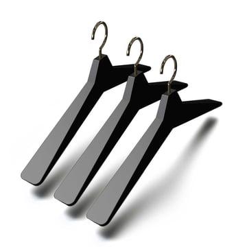 Frost - Unu Hanger 4, (set of 3), black / polished