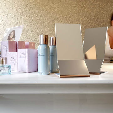Frost Unu Table Mirror on a Dressing Table