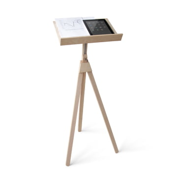 Music Stand and Standing Desk from side by side