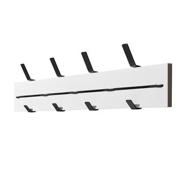 emform - Expander wall coat rack, white / black