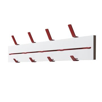 emform - Expander wall coat rack, white / red
