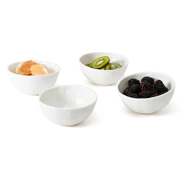 The Areaware - Stone Fruit fruit bowls (set of 4)