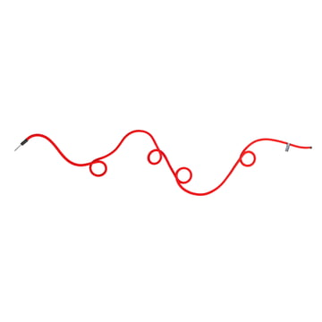 Peppermint Products - Loop Rope coat rack, red