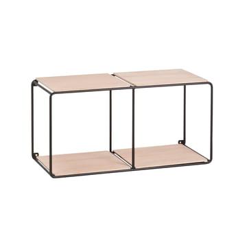 Korridor - AnyWhere wall shelf 1x2 with 4 shelves black / oak