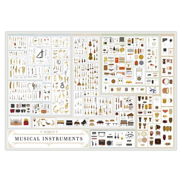 A Visual Compendium of Musical Instruments 99 x 69 cm by Pop Chart Lab