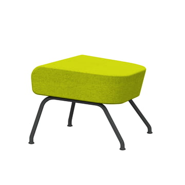 Havana Foot Stool by Softline with Frame in Grey and Felt in Green (579)